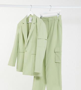 Collusion Unisex oversized blazer in pinstripe