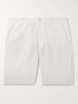 Aspesi Slim-Fit Cotton And Linen-Blend Twill Bermuda Shorts