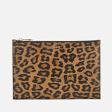 Aspinal of London Women's Essential Large Pouch Bag Leopard Print