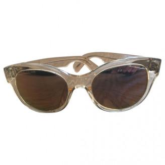 Oliver Peoples Gold Plastic Sunglasses