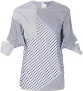 Victoria Victoria Beckham asymmetric striped shirt