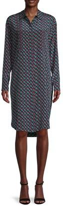 Diane von Furstenberg Geometric-Print Silk Shirtdress