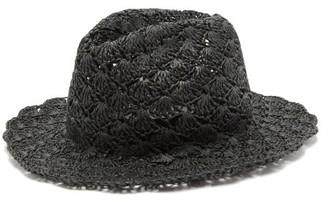 Reinhard Plank Hats - Eli Paper-straw Fedora Hat - Womens - Black
