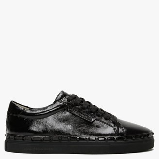 Kennel + Schmenger Margot Black Leather Studded Trainers