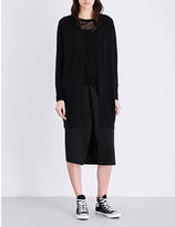 Izzue Longline knitted open-front cardigan