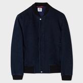 Paul Smith Men's Indigo Heavyweight Slub-Cotton Bomber Jacket