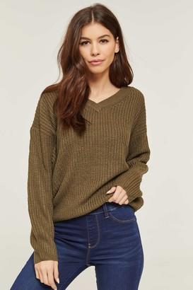 Ardene Knit V Neck Sweater