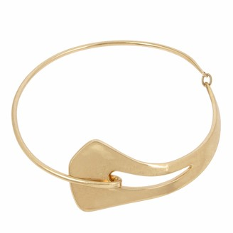 Robert Lee Morris Soho Sculptural Frontal Round Wire Collar Necklace