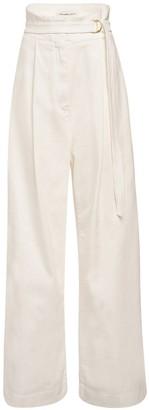 Philosophy di Lorenzo Serafini High Waist Cotton Twill Wide Pants