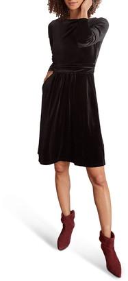 Boden Abigail Long Sleeve Velvet Dress