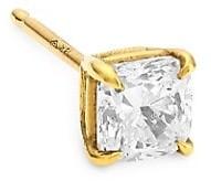 Anita Ko 18K Yellow Gold & Cushion-Cut Diamond Single Stud Earring