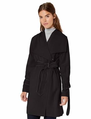 Karl Lagerfeld Paris Women's Cascade Front Wrap Trench Coat
