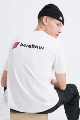 Berghaus Dean Street Corporate Logo White Short-Sleeve T-Shirt - white S at Urban Outfitters