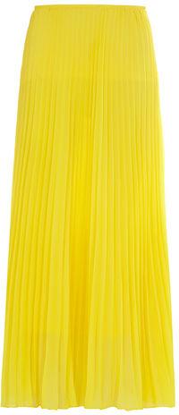 Dorothy Perkins Yellow pleated maxi skirt