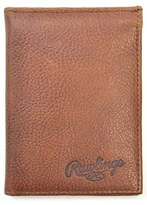 Rawlings Sports Accessories Men's Triple Play Leather L-Fold Wallet - Brown