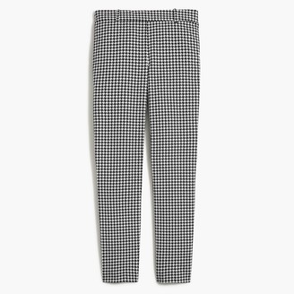 J.Crew Houndstooth Winnie pant in stretch cotton