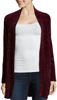 Arizona Long Sleeve Chenille Cardigan-Juniors