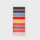 Paul Smith Men's Multi-Coloured Basket Weave Stripe Money Clip