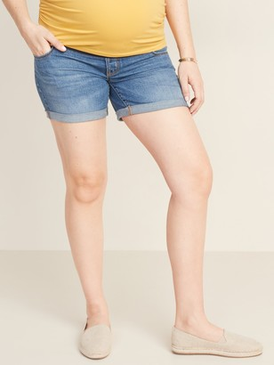 Old Navy Maternity Front Low-Panel Boyfriend Jean Shorts -- 5-inch inseam