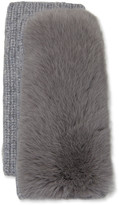Yves Salomon Cashmere Knitted Gloves w/ Fox Fur Trim