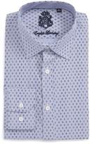 English Laundry Trim Fit Geometric Dress Shirt