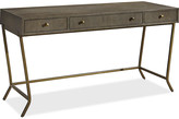 One Kings Lane Playlist Desk - Java Gray - top, java gray; frame, gold; hardware, brass