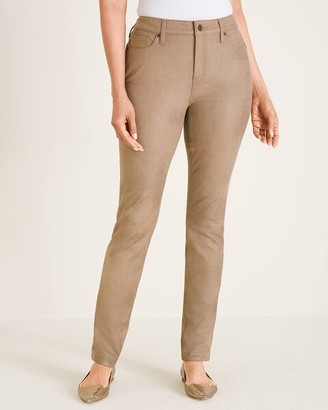 Chico's Faux-Suede Fly-Front Jeggings