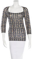 Piazza Sempione Geometric Print Three-Quarter Top