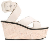 Barbara Bui crossover wedge sandals - women - Calf Leather/Leather - 37