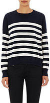 Saint Laurent Women's Striped Cashmere Sweater-WHITE