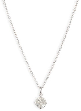 Bony Levy Gatsby Round Diamond Pendant Necklace