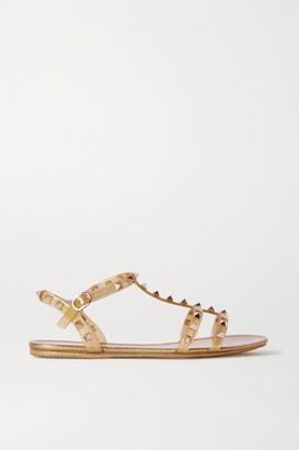 Valentino Rockstud Glittered Rubber Sandals