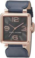 Marc Jacobs Women's Vic Navy Leather Watch - MJ1530