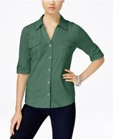 Style&Co. Style & Co Utility Shirt, Only at Macy's