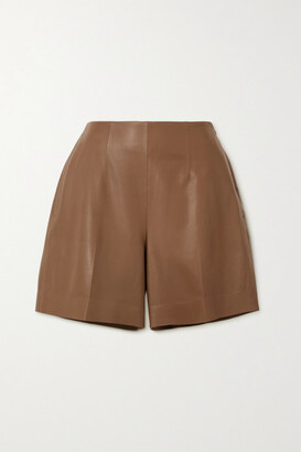 Vince Leather Shorts - Brown