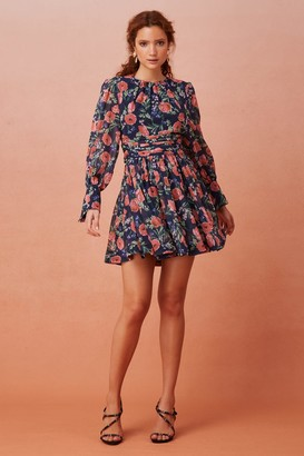 Keepsake NOMINAL LONG SLEEVE MINI DRESS Midnight Floral