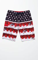 "O'Neill Quarters Red 21"" Boardshorts"
