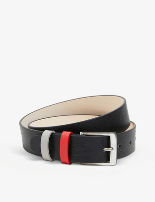 Paul Smith Straw-grain leather belt