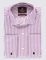 Marks and Spencer Pure Cotton Tailored Fit Striped Shirt