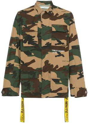 Off-White camouflage cotton field jacket