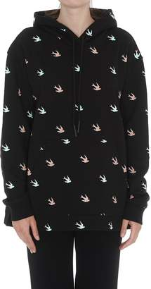 McQ Back Pleated Swallow Hoodie