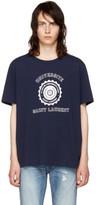 Saint Laurent Navy université Logo T-shirt