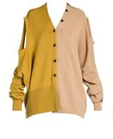 Marni Shetland Colorblock Wool Convertible Cardigan