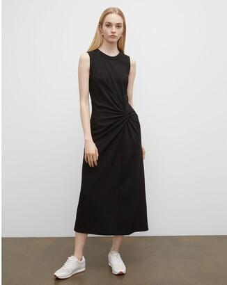 Club Monaco Twist Front Knit Maxi Dress