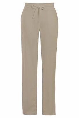Habigail Ladies Linen Trousers Elasticated Waist Casual Summer Pants Full Length (18