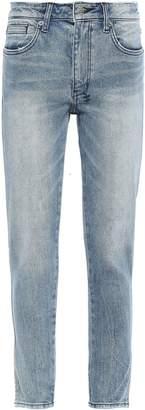 Ksubi Frayed Mid-rise Slim-leg Jeans