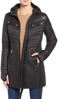 MICHAEL Michael Kors Women's Mixed Media Hooded Zip Front Coat
