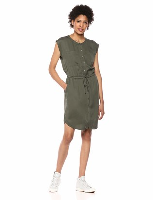 Daily Ritual Amazon Brand Women's Tencel Short-Sleeve Utility Dress
