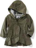 Old Navy Hooded Peplum-Hem Utility Jacket for Baby