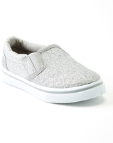 Pink Label Silver Glitter Slip-On Shoe